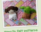 How-to felt patterns - Yoda and Princess Leia brooches