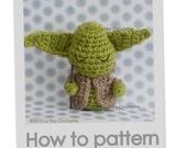 Amigurumi Little Yoda Star Wars doll crochet pattern in pdf