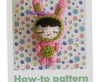Amigurumi Easter Bunny girl crochet pdf pattern