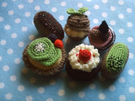 Amigurumi Petits Fours collection pdf crochet food pattern