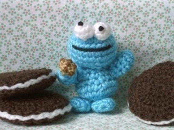 Amigurumi Cookie Monster Pattern : Amigurumi Cookie Monster crochet pattern pdf by lafeecrochette