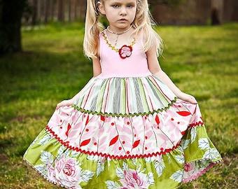 Retro Summer Romance Custom Dress Girls Size  4 to 10