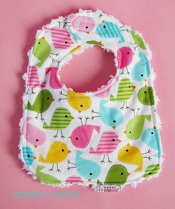 Easter Bib Infant Chenille Great Gift Spring Matching Easter Peep