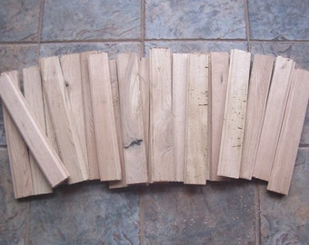 Lot of 20  Butternut Wood Tongue & Groove Paneling Pieces Small Boards Woodworking Crafts