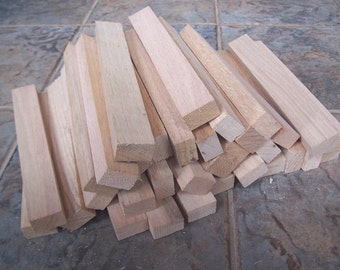 """33 Red Oak Small Boards 10 1/8"""" long x 1 3/8"""" wide x 7/8"""" thick for Woodworking"""