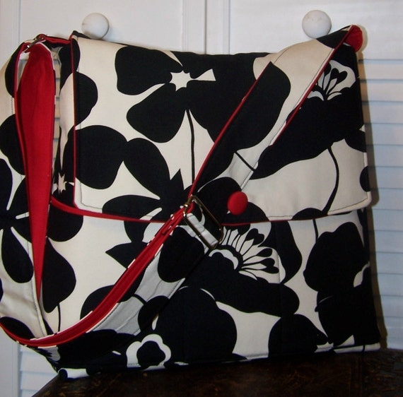 GypsyRoseHandbags ..XL KARRIE...COMBINATION LAPTOP CAMERA BAG  Perfect for Nikon D700 with battery pack and lenses... 15 inch MacBook ..and more