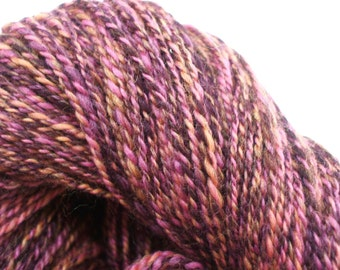 Mango Berry merino wool Handspun Yarn 275 yds OOAK