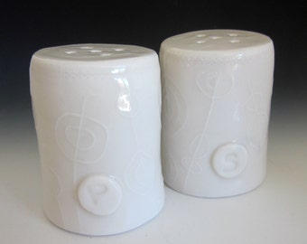 Handmade Porcelain Salt and Pepper Shakers