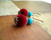 RESERVED FOR simuna - Velveteen Revolution Earrings