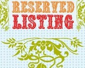 Reserved Listing for MaggieMillerHandPainted