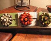 Pick A Bobby Pin- Smokin Hot Leather Flower