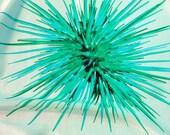 Sea Urchin Silk Scarf in aquamarine