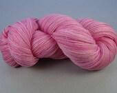 De Stashing...Bubblegum Pink...Merino Wool Laceweight Yarn...ON SALE