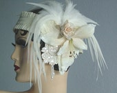 Gatsby Headpiece - Baby I'm Yours - Feathers and Flowers