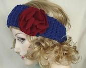 Royal Blue Crochet Headband Ear Warmer