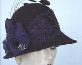 Purple Lovers Wool Felt Cloche On Sale