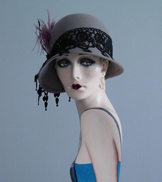 Mauve Cloche Hat