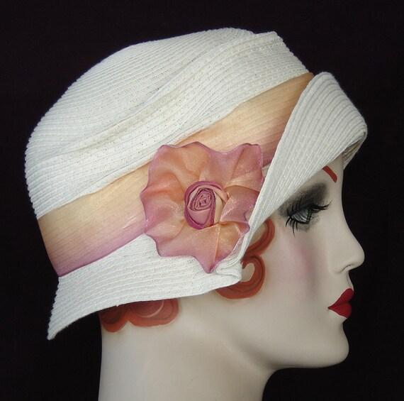 Summer Cloche Hat In Ivory Cream