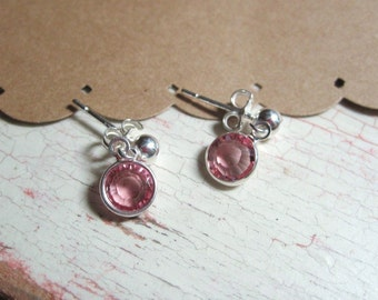 Little Girls Swarovski Crystal Earrings