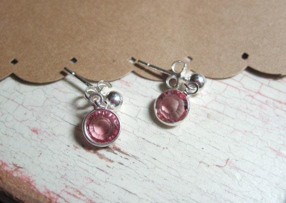 items similar to little girls swarovski crystal earrings. Black Bedroom Furniture Sets. Home Design Ideas