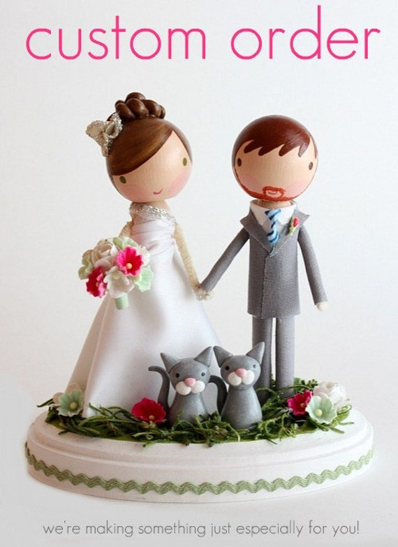 custom wedding cake toppers etsy custom wedding cake topper order for tevabarela 13253