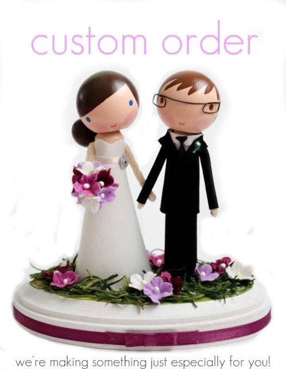 custom wedding cake topper order for by lollipopworkshop ...