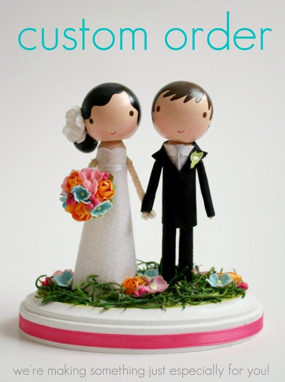 custom wedding cake topper - order for - LOUISEBERTHOD