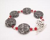 Floral Elegance - Lucite Bracelet