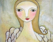 Guardian Angel Folk Art Whimsical Print