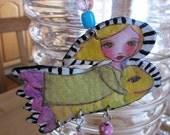 Flying Fantasy Fish Ornament Decoration Sculpture Art Doll
