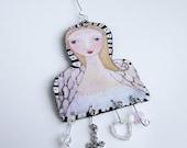 Guardian Angel Ornament Decoration Sculpture Art Doll