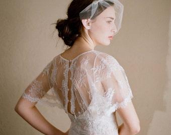 Mini bridal tulle veil - Mini tulle veil - Style 218 - Ready to Ship