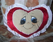 Valentine's Day Stuffed Red Heart Pillow
