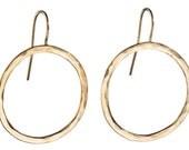 Gold Circle Earrings (large)