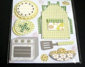 baking cookies  -- 3D glitter stickers - great for scrapbooking/card-making