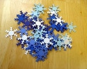 scrapbooking -- confetti hand punched cardstock fat snowflakes -- 50 pieces