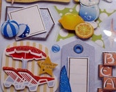 summer vacation -- 3D glitter stickers - great for scrapbooking\/card-making