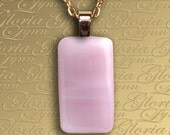 Fused Glass Pendant Jewelry - Perfect Pink - STG5