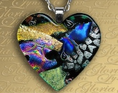 Fused Dichroic Glass Pendant Jewelry - Loving Memories - H44
