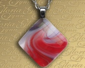 Fused Glass Pendant, Fused Glass Jewelry - Captivating - Z28