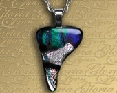 Fused Dichroic Glass Pendant Jewelry, Dichroic Pendant - Wizard's Touch - U28