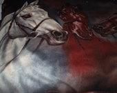 Horses fleece throw...beautiful