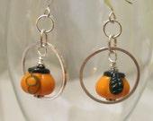 Pumpkin Earrings Hoop Earrings Fall Autumn Halloween Gift Ideas for Girlfriends Gift Ideas for Halloween Gift Ideas for Autumn