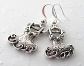 Dress Earrings Dance Earrings Ruffles Dance Dress Pierced Earrings