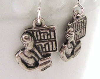 Librarian Earrings Reader Earrings Book Earrings Library Earrings Gift Idea for Readers Gift Idea for Book Lovers