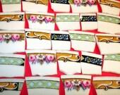 Mosaic Tiles-  Flower Border - Mosaic Tiles - Vintage-  Tessera Handcut Mosaic Tiles