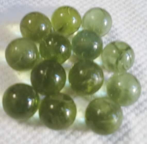 Vintage Glass Green Marbles, Jewelry, Flower Bulbs, Arrangements, Arts, Crafts