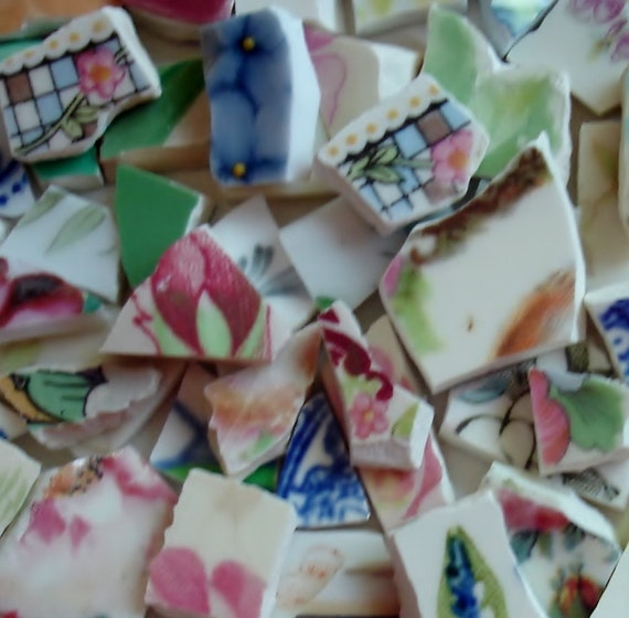 Supplies - Mosaic Tiles 200 - Chip - Shards - Tiny Tiles - Fill Large Area Tessera