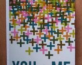 You Plus Me (Blue) - Greeting Card