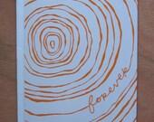 Forever (Orange) - Flat notecard and envelope
